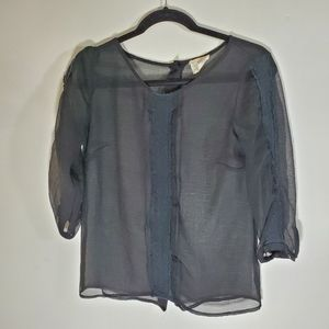 Anthropologie Pins and Needle Sheer Top